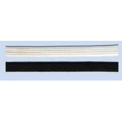 Elástico plano suave 5mm negro